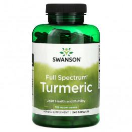 Swanson Full Spectrum Turmeric 720 мг 240 капсул / Куркумин