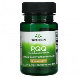 Swanson PQQ Pyrroloquinoline Quinone 20 мг 30 капсул / Пирролохинолинхинон