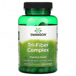 Swanson Tri-Fiber Complex 100 капсул / Клетчатка