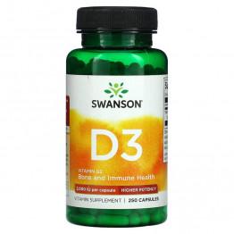 Swanson Vitamin D3 2000 IU 250 капсул / Витамин Д-3