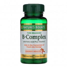 Nature's Bounty B-Complex Time Released / Комплекс витаминов B 125 таблеток