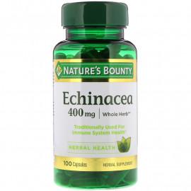 Nature's Bounty Echinacea, 400 мг, 100 капсул / Эхинацея