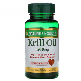Nature's Bounty, Масло криля, 500 мг, 30 мягких капсул
