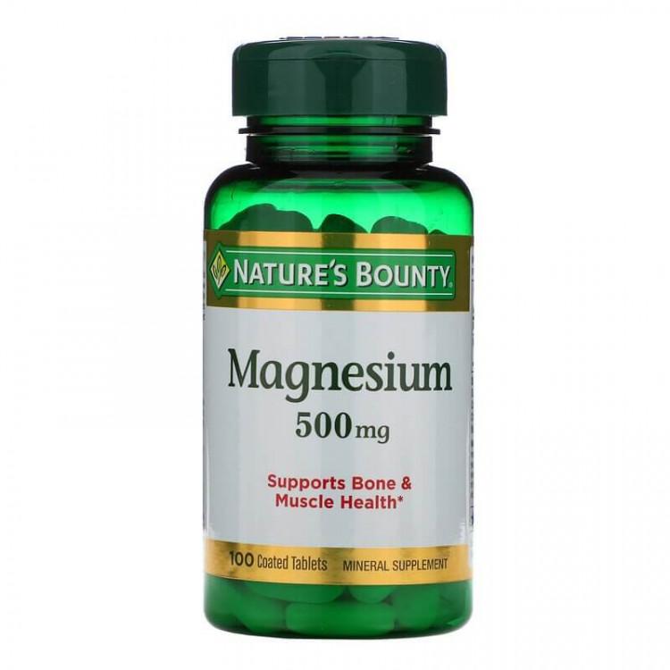 Nature's Bounty Магний 500 мг, 100 таблеток