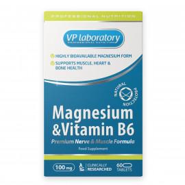 VP Laboratory Magnesium Vitamin B6 / Магний и Витамин Б6, 60 таблеток