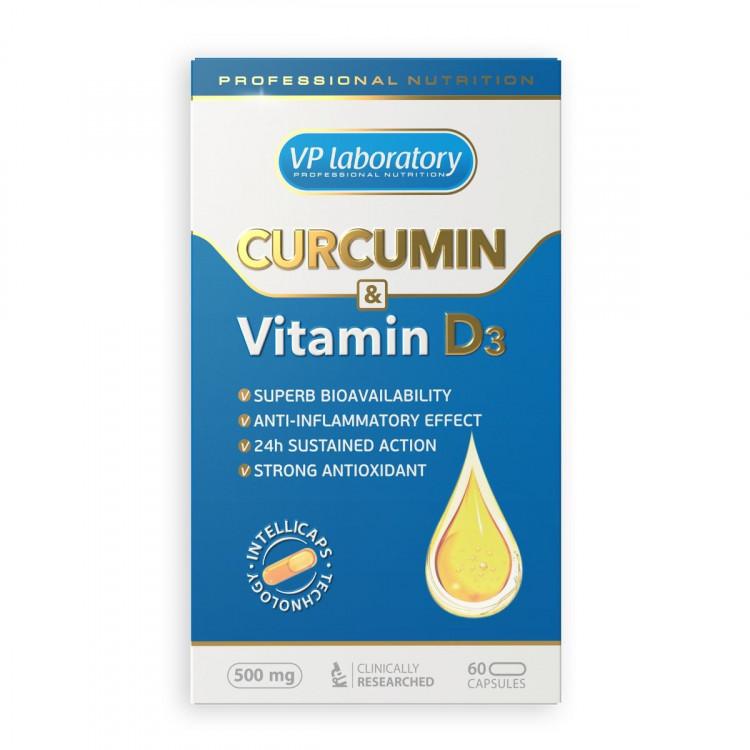 VP Laboratory Curcumin Vitamin D3 / Куркумин и Витамин Д3 60 капсул